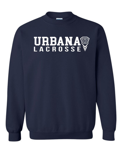 Urbana Hawks LACROSSE Cotton Crewneck Sweatshirt Many Colors Available Size S-3XL NAVY