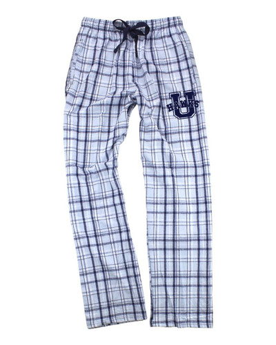 Urbana Hawks Flannel Lounge Pants with Pockets Boxercraft Unisex CAROLINA BLUE/NAVY Sz S-2XL
