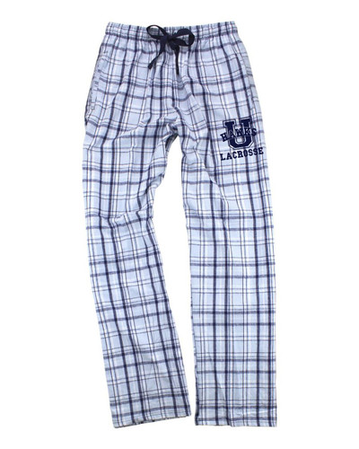 Urbana Hawks Flannel Lounge Pants LACROSSE with Pockets Boxercraft Unisex CAROLINA BLUE/NAVY YOUTH SZ S-L