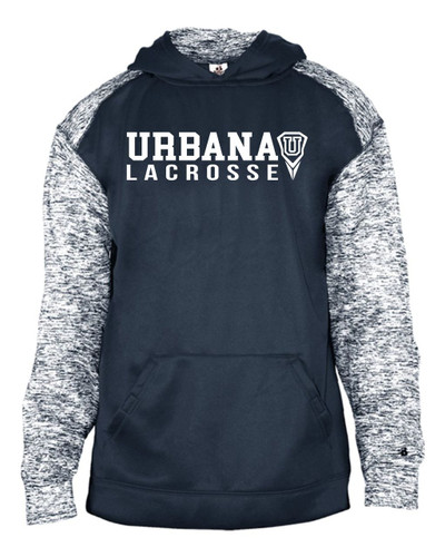 Urbana Hawks Hooded Performance Sweatshirt LACROSSE Badger Sport Blend Polyester YOUTH SZ S-XL NAVY