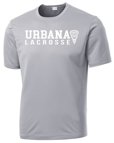 Urbana Hawks LACROSSE  T-shirt Performance Posi Charge Competitor Many Colors Available YOUTH SZ S-XL SILVER