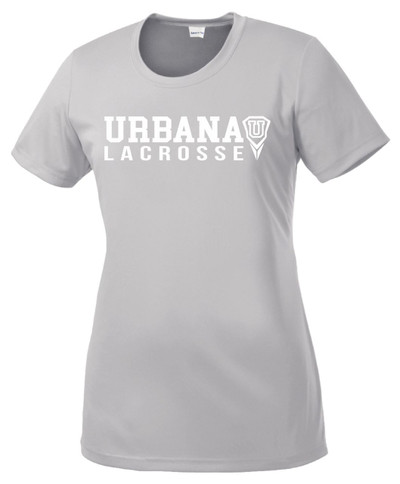 Urbana Hawks LACROSSE T-shirt Performance Posi Charge Competitor Many Colors Available LADIES SZ XS-4XL SILVER