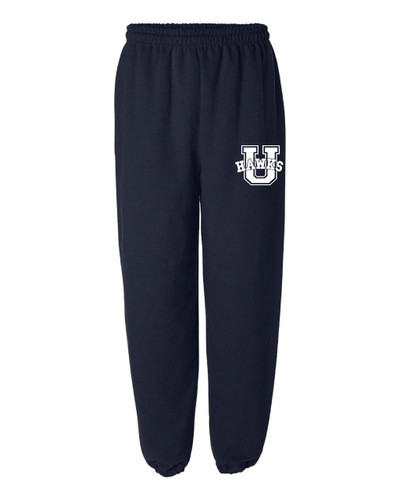 Urbana Sweatpants Cotton ELASTIC CUFF Bottom Many Colors Available YOUTH SIZE S-XL NAVY
