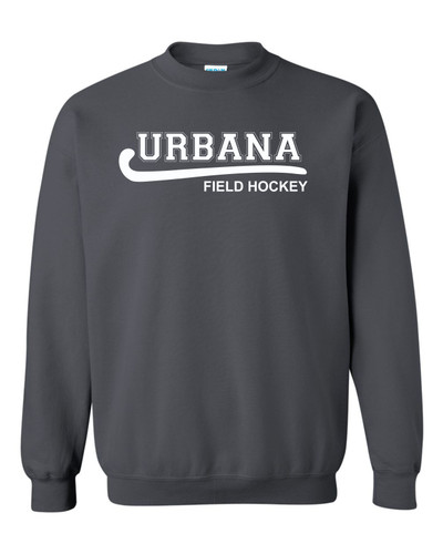 Urbana Hawks FIELD HOCKEY Cotton Crewneck Sweatshirt Many Colors Available Size S-3XL CHARCOAL