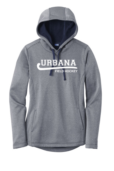 Urbana FIELD HOCKEY Hooded Performance PosiCharge Heather Fleece Pullover Sweatshirt LADIES Sizes XS-4XL Many Colors Available TRUE NAVY HEATHER