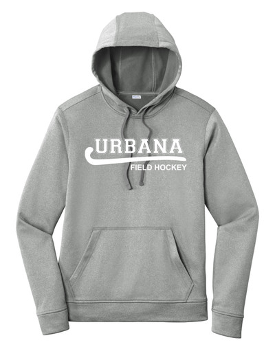 Urbana Hawks FIELD HOCKEY Hooded Performance PosiCharge Heather Fleece Pullover Sweatshirt Many Colors Available SZ XS-4XL DARK SILVER HEATHER
