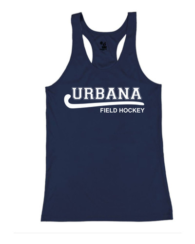 Urbana Hawks FIELD HOCKEY Tank Top Performance YOUTH Racer Back Badger Polyester Many Colors Available Sz S-L  NAVY