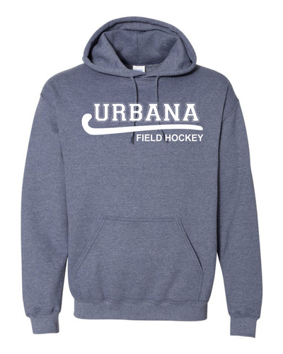 Urbana FIELD HOCKEY Cotton Heathered Hoodie Sweatshirt Many Colors Available Size S-3XL HEATHERED NAVY