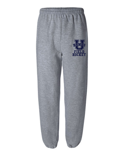 Urbana Sweatpants Cotton ELASTIC CUFF Bottom FIELD HOCKEY Many Colors Available SIZES S-2XL SPORTS GREY