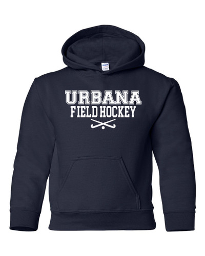 Urbana FIELD HOCKEY Cotton Hoodie Sweatshirt Sticks Many Colors Available YOUTH SZ S-XL NAVY