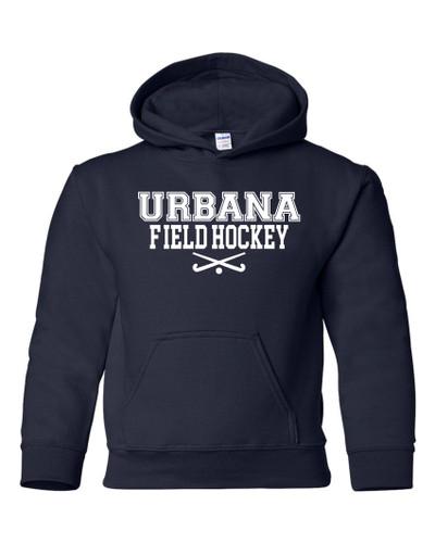 Urbana FIELD HOCKEY Cotton Hoodie Sweatshirt Sticks Many Colors Available YOUTH SZ S-XL NAVY