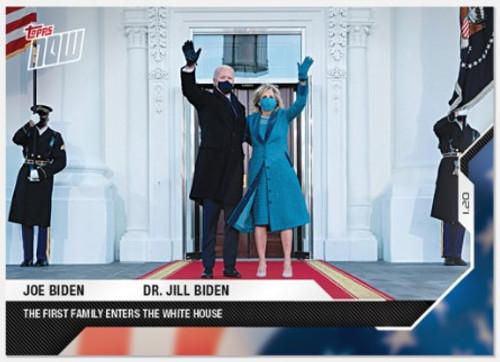 2020 USA Election Topps NOW - Card 16 - Joe Biden/Dr. Jill Biden (PRE-SALE)