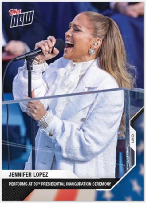 2020 USA Election Topps NOW - Card 18 -Jennifer Lopez (PRE-SALE)