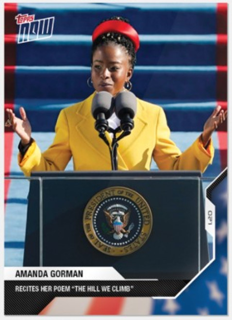 2020 USA Election Topps NOW - Card 20 - Amanda Gorman (PRE-SALE)