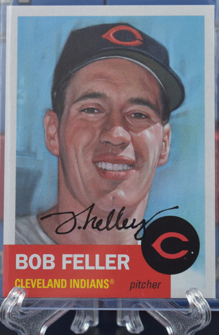 Jared Kelley autographed Bob Feller Living Set Card