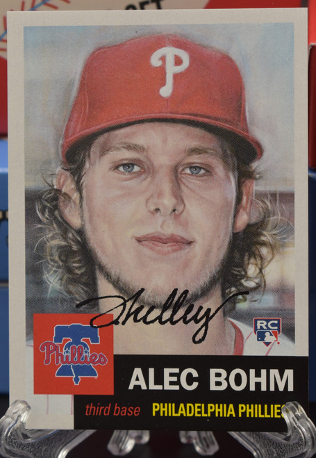 Jared Kelley autographed Alec Bohm Living Set Card (IN-HAND)