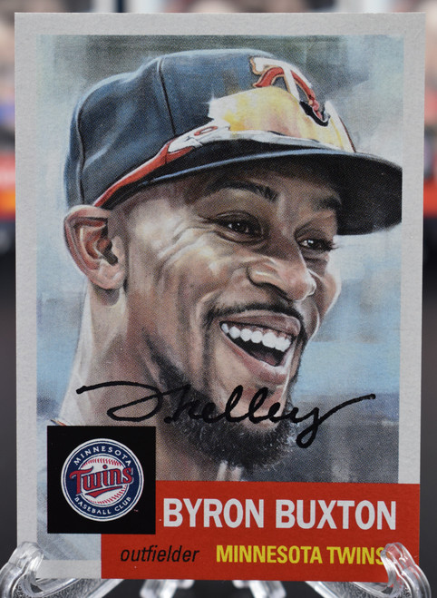 Jared Kelley autographed Byron Buxton Living Set Card (IN-HAND)