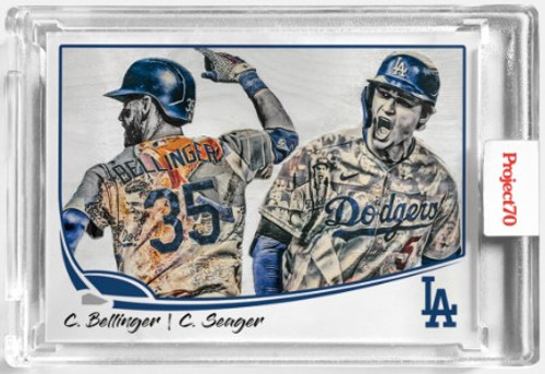 Topps Project 70 Corey Seager / Cody Bellinger #104 by Lauren Taylor(PRE-SALE)
