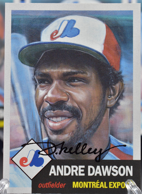 Jared Kelley autographed Andre Dawson Living Set Card (IN-HAND)