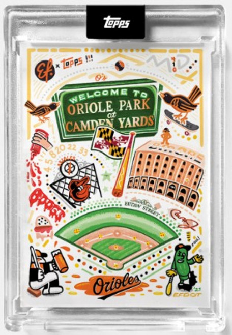 2021 Topps X - Efdot Iconic Stadium Series 2 - Card 6 - Oriole Park at Camden Yards - (PRE-SALE)