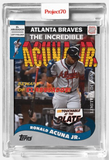 Topps Project 70 Ronald Acuna Jr. #286 by UNDEFEATED (PRE-SALE)
