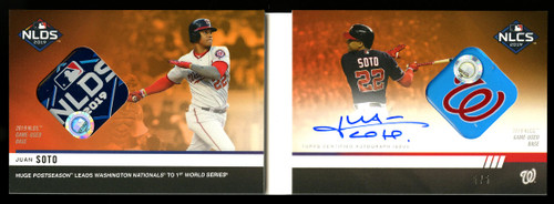 Topps NOW Jaun Soto Relic Duel card- front