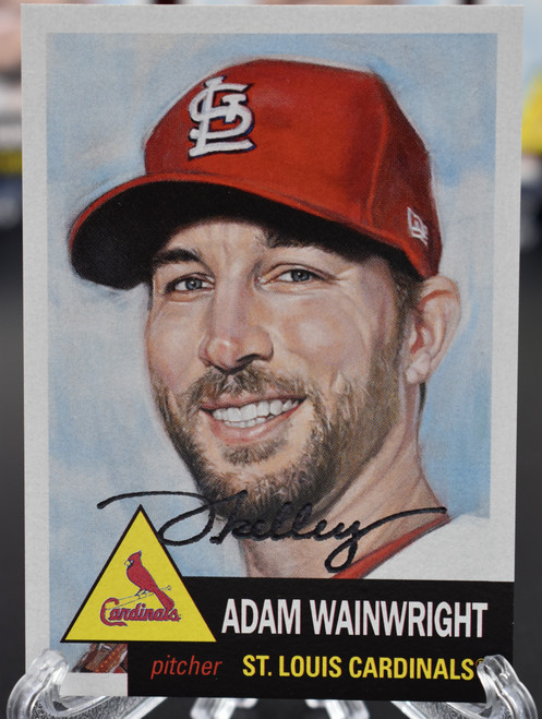Jared Kelley autographed Adam Wainwright Living Set Card (IN-HAND)