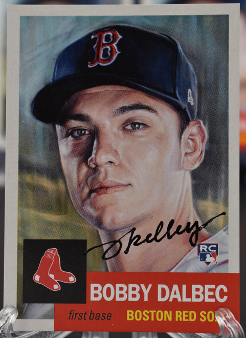 Jared Kelley autographed Bobby Dalbec Living Set Card (IN-HAND)