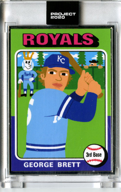 Topps Project 2020 - George Brett #102 Artist Proof by Keith Shore #15/20