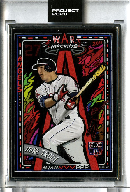 Topps Project 2020 - Mike Trout #227 Artist Proof by Efdot #09/20
