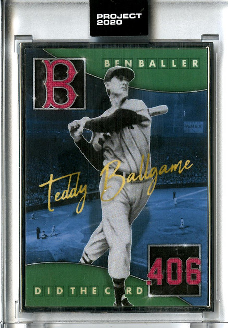 Topps Project 2020 - Ted Williams #229 Artist Proof by Ben Baller #08/20