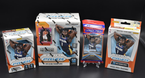 2019-20 Panini NBA Prizm basketball factory sealed Walmart Mega box, Blaster box, Hanger box, and Cello pack