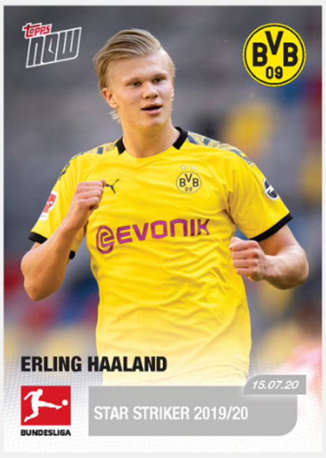 Topps NOW Erling Haaland 195 -front