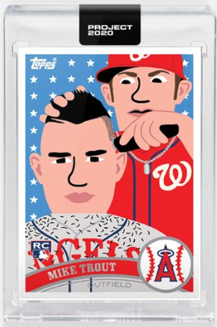 Topps Project 2020 Mike Trout #260 by Keith Shore- (PRE-SALE)