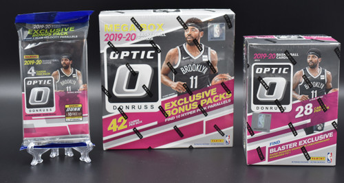 2019-20 Panini NBA Donruss Optic basketball factory sealed Walmart Mega box, Blaster box and Cello pack!