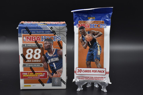 2019-20 Panini NBA HOOPS basketball factory sealed Walmart Blaster box and Cello pack!