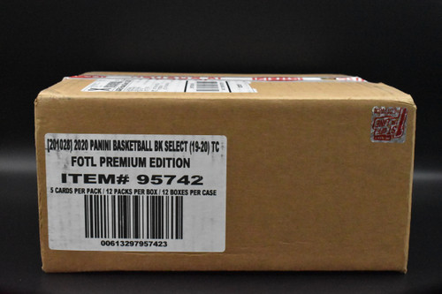 2019-20 Panini Select Basketball Premium 1st off the line FOTL hobby factory sealed 12 Box Case - Last One!