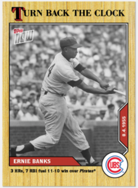 Turn Back The Clock- Ernie Banks #127 - (PRESALE)