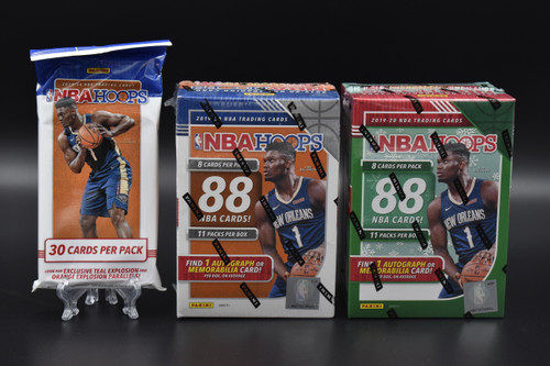 2019-20 Panini NBA HOOPS basketball factory sealed Walmart Blaster box, Holiday Blaster Box  and Cello pack!