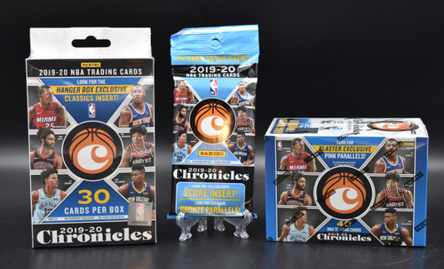2019-20 Panini Chronicles Basketball factory sealed Blaster box, Hanger box and Cello Pack!