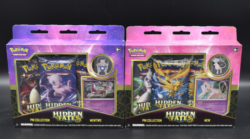 Pokemon Hidden Fates- Pin Collection Mewtwo & Mew (READY TO SHIP)