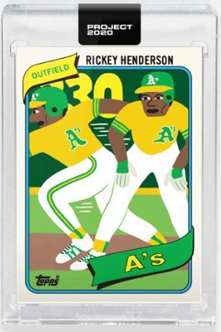 Topps Project 2020 Rickey Henderson #326 by Keith Shore (PRE-SALE)