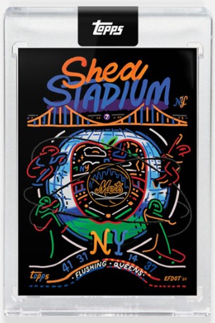 Topps X - 2020 Efdot Iconic Stadium Series -Card 2 - Shea Stadium -  (PRE-SALE)