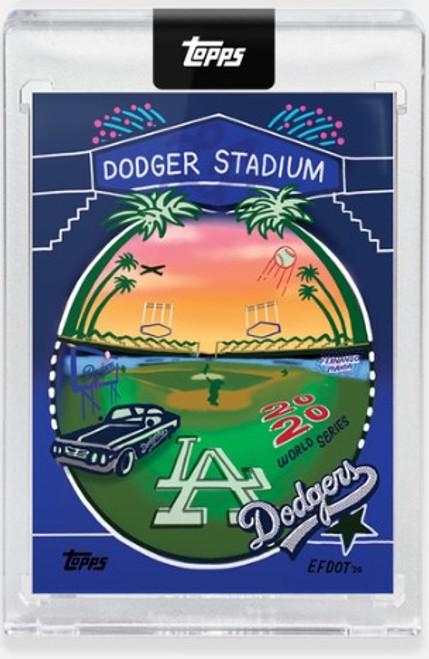 Topps X - 2020 Efdot Iconic Stadium Series -Card 5 - Dodger Stadium - (PRE-SALE)