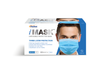 PacDent iMask Premium Ear-loop Face Masks ASTM Level 2, Blue, 50/bx