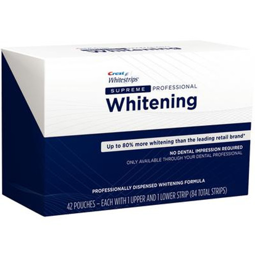 P&G Crest Whitestrips Supreme Kit Includes: 84 Strips (42 upper & 42 lower) (80288891, Old # 80247600, 84806937)