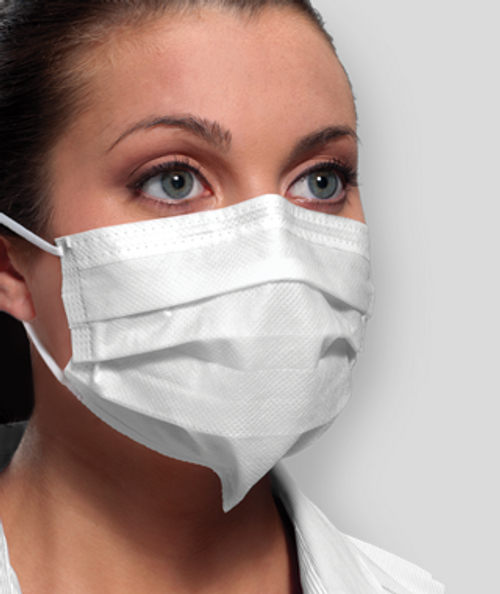 Crosstex Securefit Ultra Sensitive Earloop Mask, ASTM Level 3, White, 50/bx GCFCXSSF
