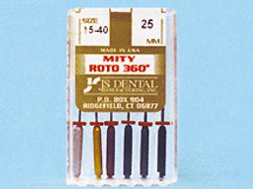 JS Dental Mity Roto 360 25 mm #15-40, 6/bx
