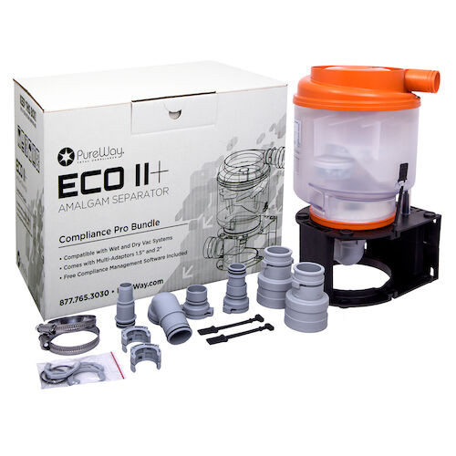 Pureway Eco II Plus Amalgam Separator 1-10 Chairs Include Installation Kit