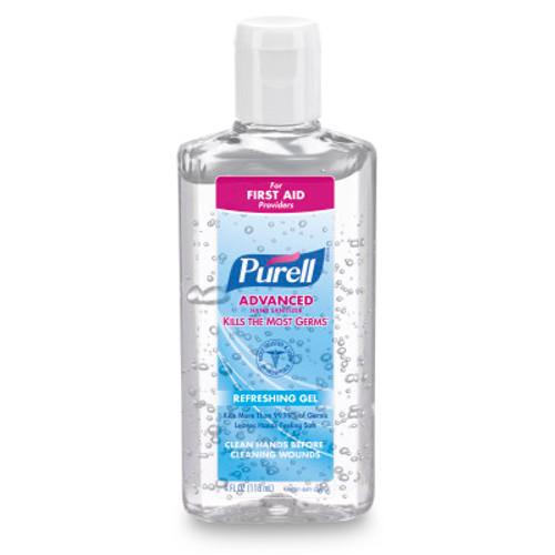 Gojo Purell Advanced Instant Hand Sanitizer Bottle with Flip Cap, 4 fl. oz, each